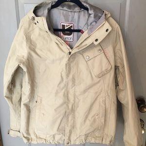 Burton cream snowboarding coat. Size large.